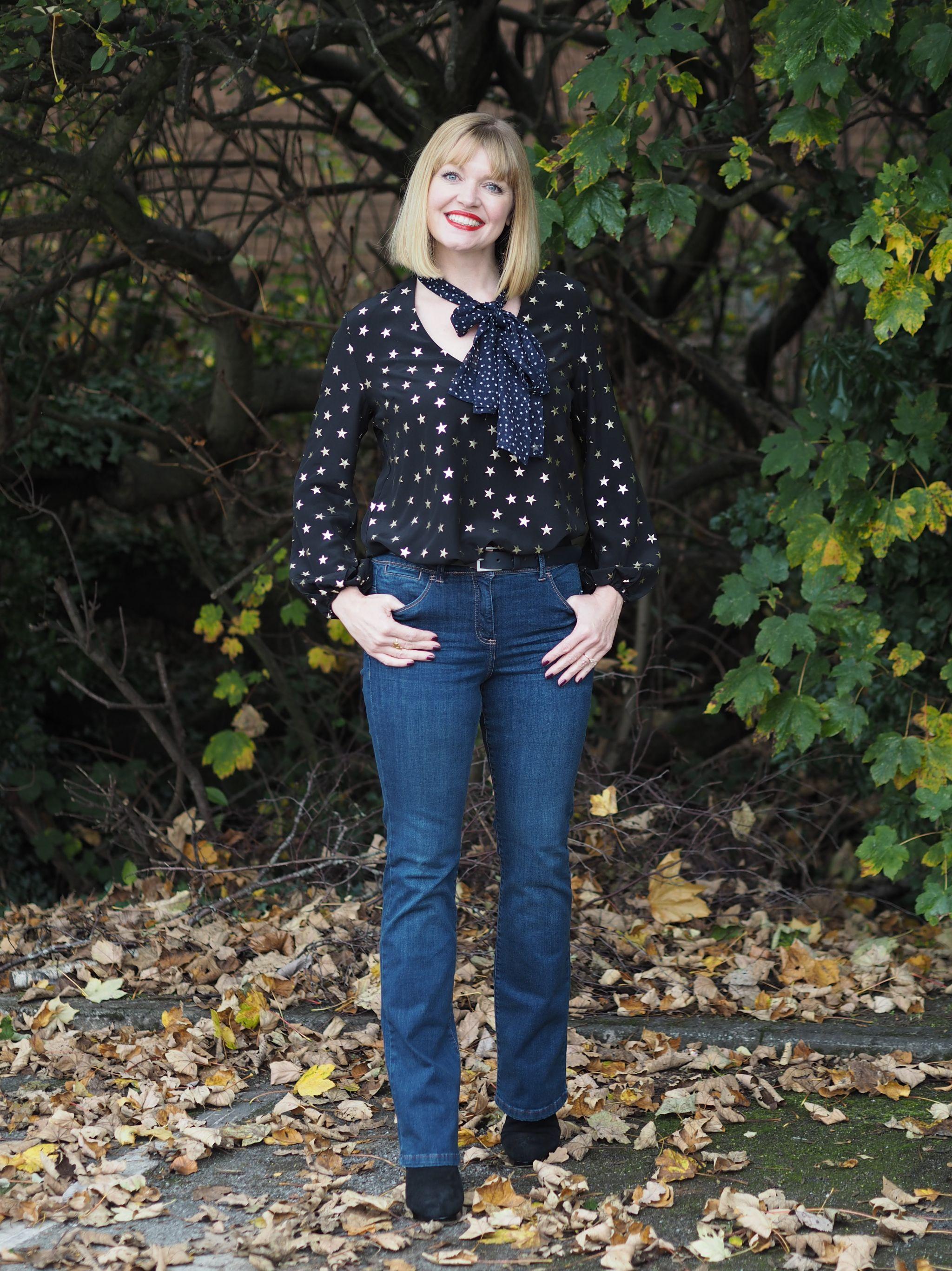 Rixo stars and dot blouse