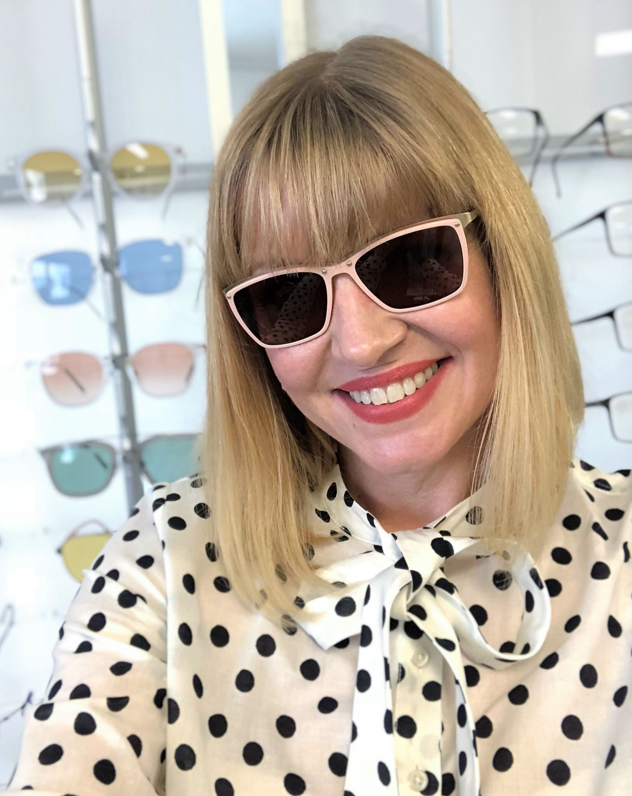 Stepper rose gold sunglasses