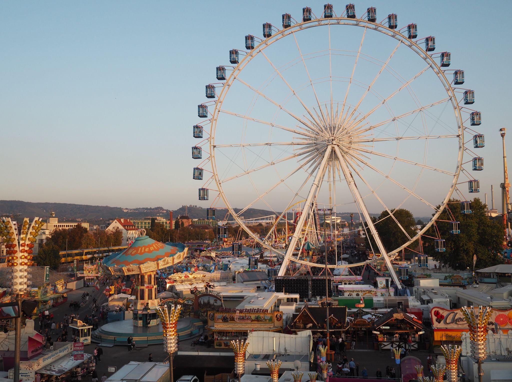 Stuttgart beer festival view of fairground