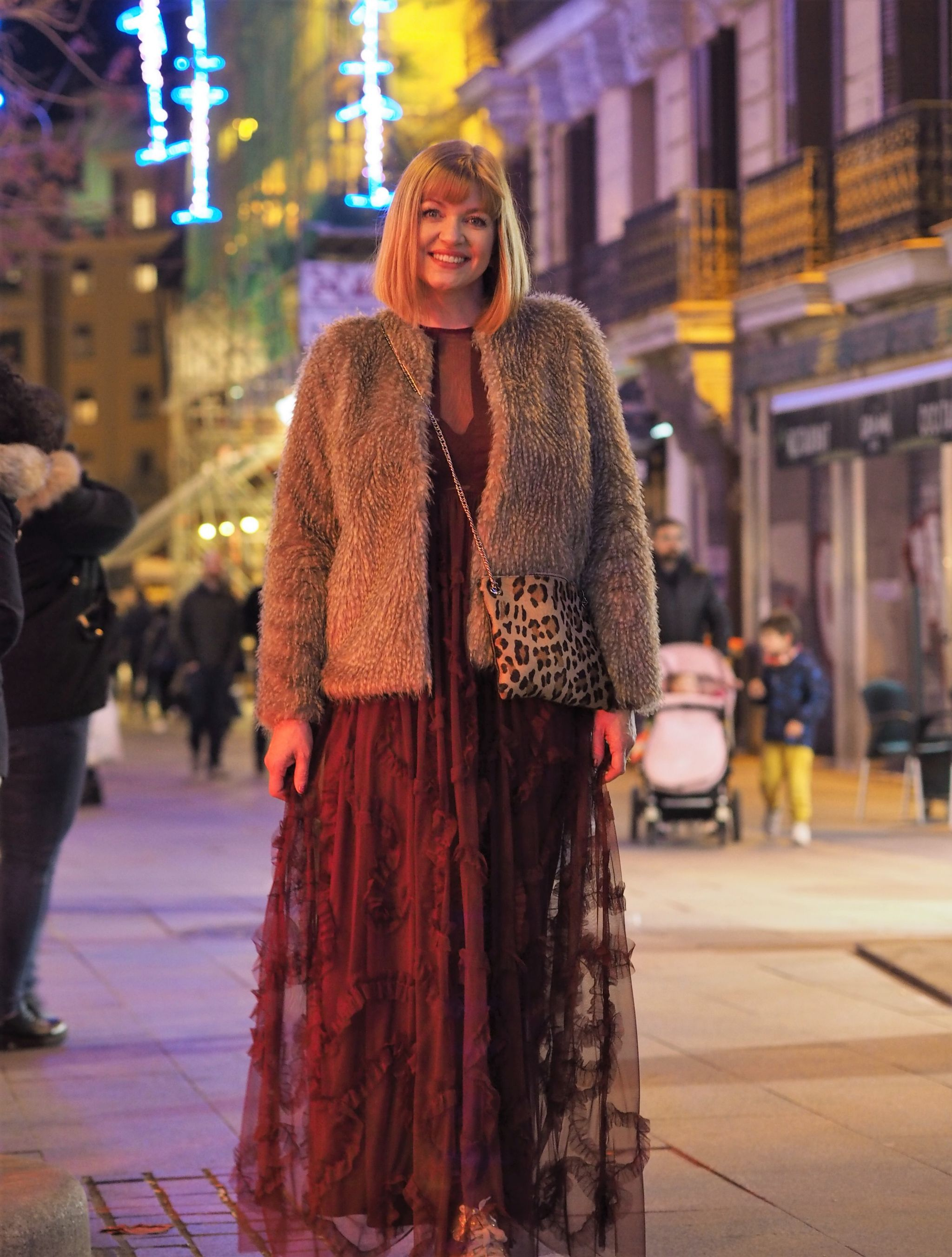 what lizzy loves ruffle maxi dress