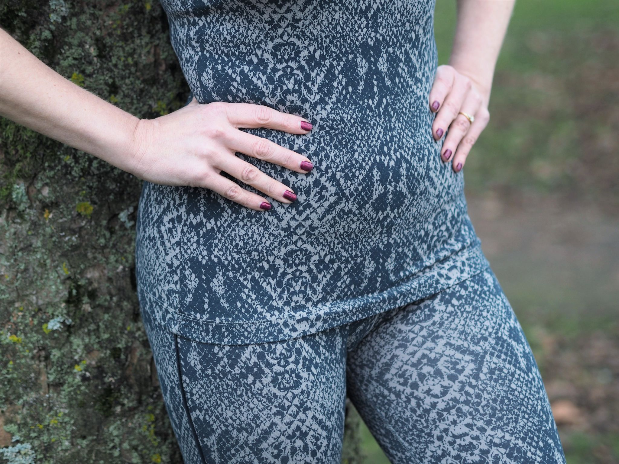 couch to 5K sustainable snake print activewear leggings gym clothing