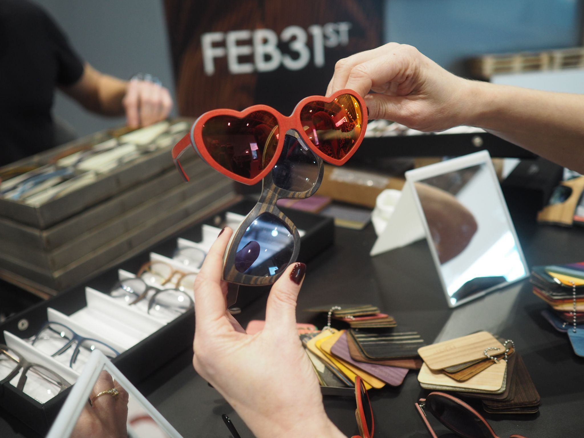 feb31st bespoke sustainable heart-shaped eyewear