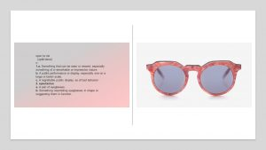 Make a spectacle in pink marble sunglasses
