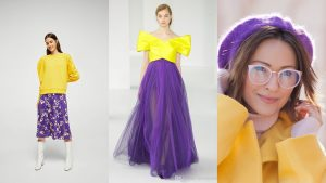 complementary colours outfits purple and yellow