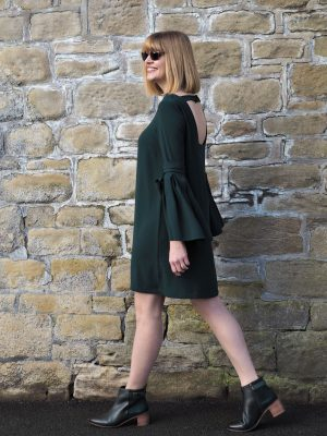 stepper living coral eyewear and green dress green leather boots