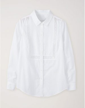 Pure Collection White Pintuck Shirt