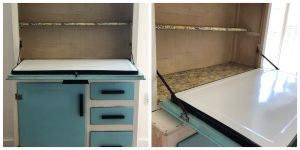 transform a dresser into a cocktail cabinet