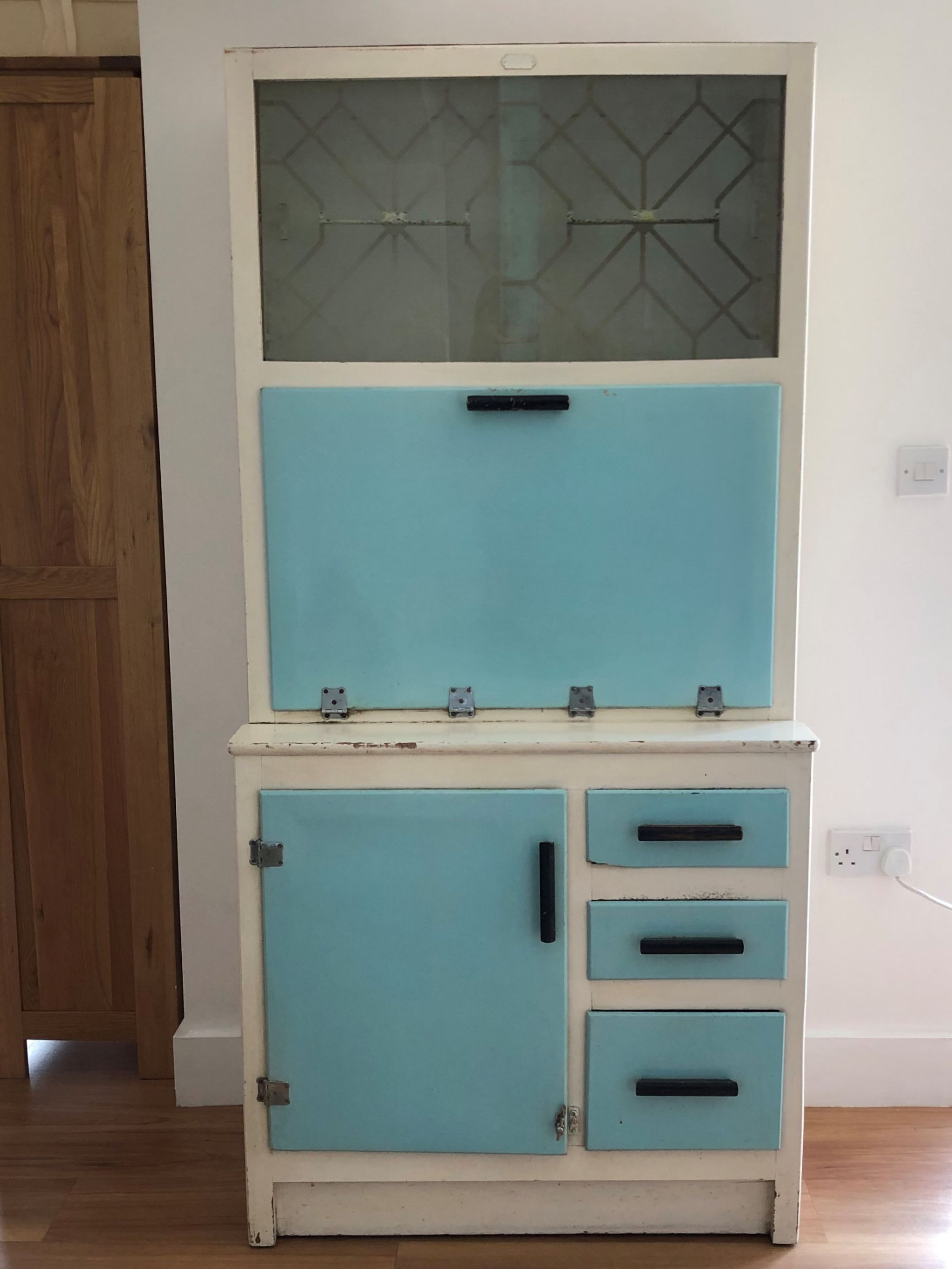 transform vintage cupboard into cocktail cabinet
