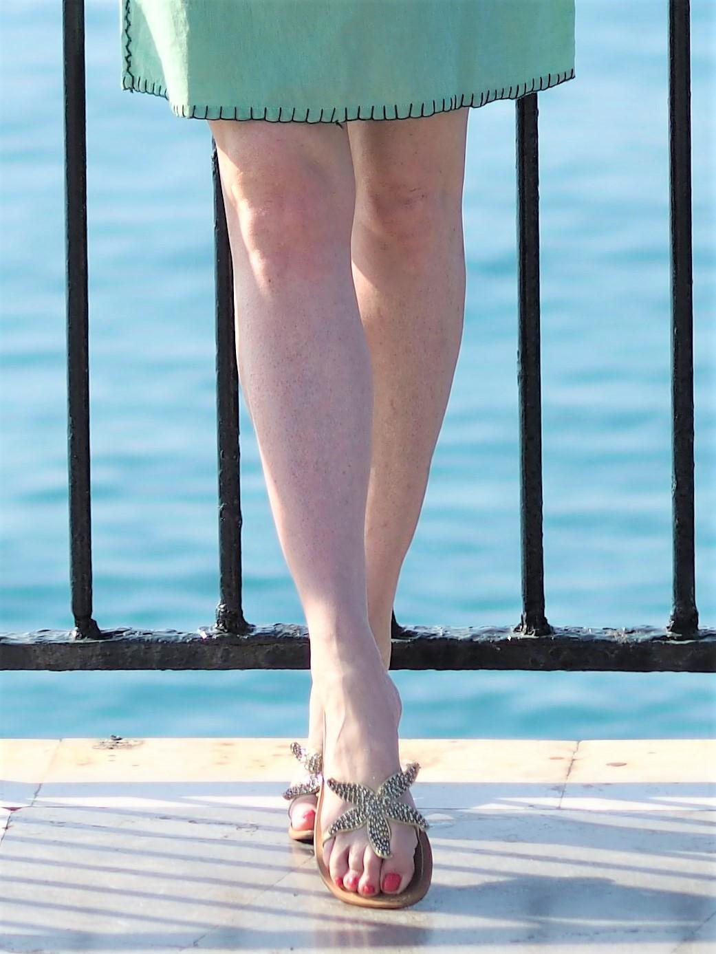 el Balcon de Europa gold starfish sandals