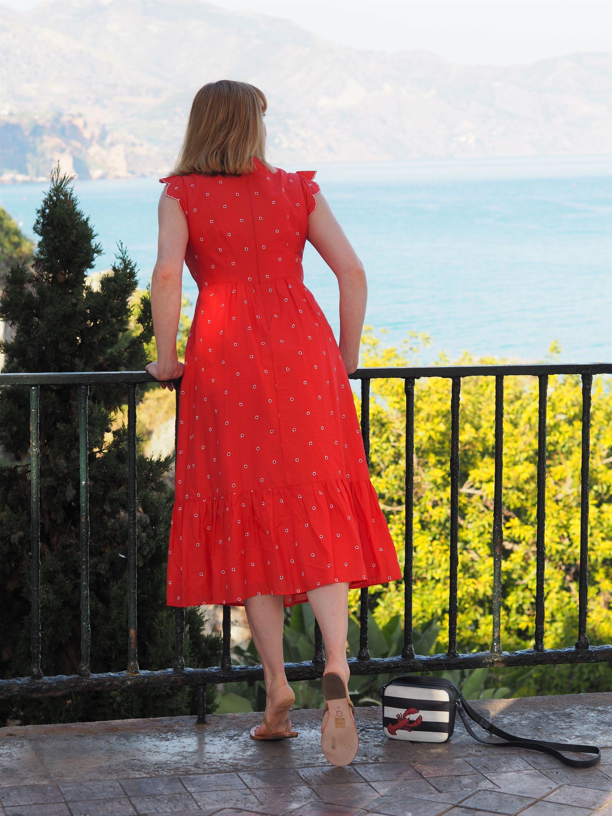 boden red lucinda dress