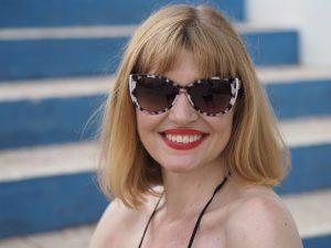 Karen Millen black and white suglasses