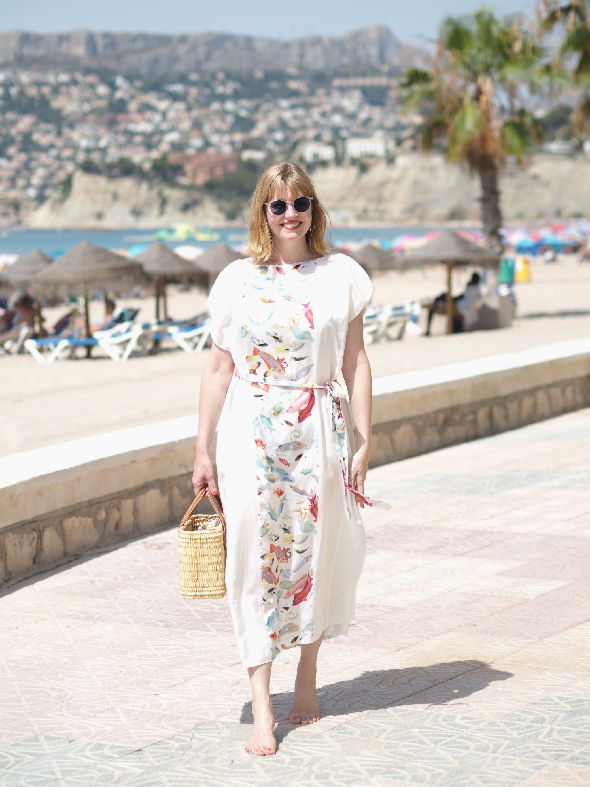 tropical fish caftan