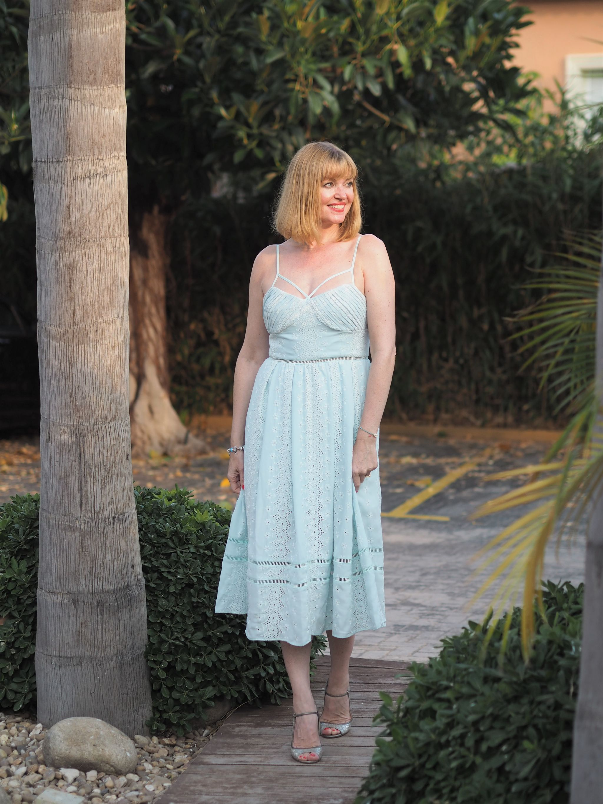 Self Portrait mint green broderie dress 7