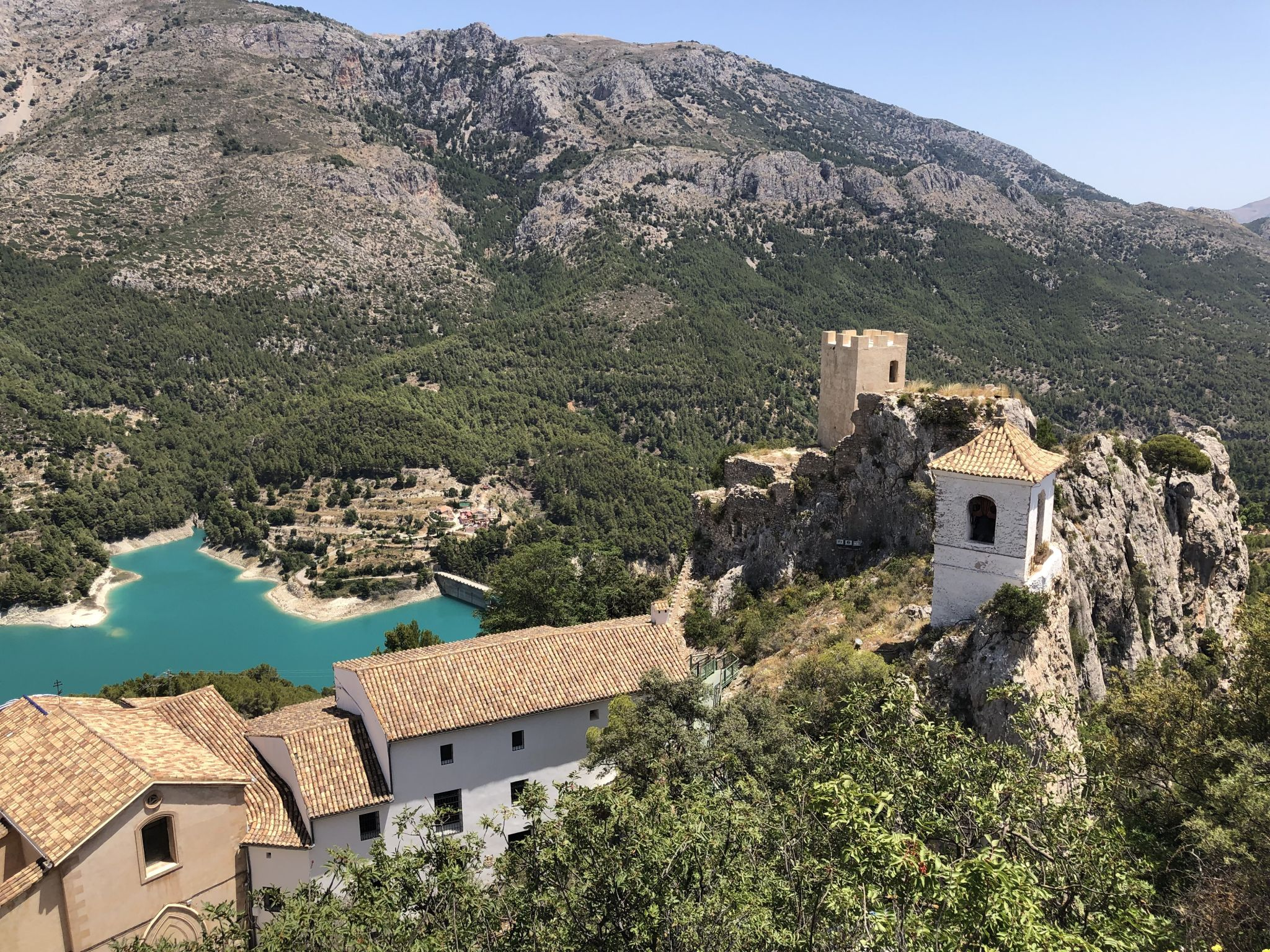 guadalest white bell tower